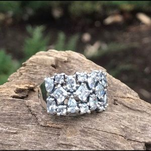 Silpada Cosmo CZ Cocktail Ring (Retired)